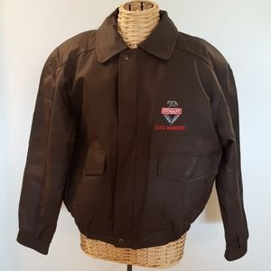 NWOT Vintage Bomber Leather Jacket Handyman Club